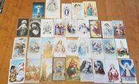 Vintage 1940s-1960s Christian Prayer / Holy Card Lot (32)