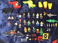 Vintage Lego Lot Minifigure Police, Fire Man, Doctor, Ninjas Animals Rare Misc