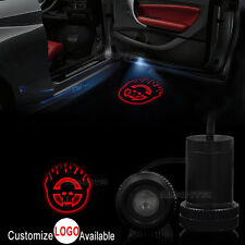 2x Mad Max Skull Logo Car Door Welcome LED Laser Projector Ghost Shadow Light