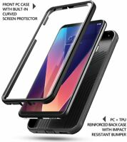 For LG V30 Built-in-Screen Protector Rugged Shockproof Poetic Revolution Case