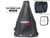"""Funda Palanca de Cambios y Marco 180mm Para Nissan Navara D40 """"NAVARA 4x4"""" Logo"""