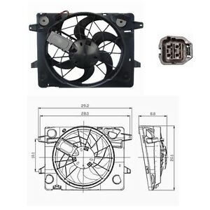 Electric Radiator Cooling Fan Assembly Fits:2003 - 2005 Mercury Grand Marquis V8