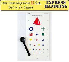 Kindergarten Color Vision Eye Testing Chart with Occluder (Set of 2)