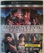 Resident Evil: Vendetta w/Slipcover [4K Ultra HD + Blu-ray + Bonus] CG Animation