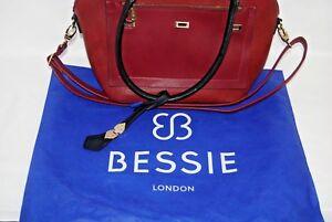 BESSIE  Handbag  London  maroon  red