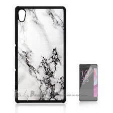 ( For Sony Z3 ) Back Case Cover P11207 Marble Pattern