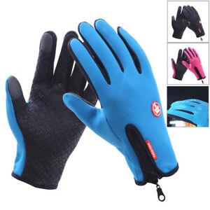 Outdoor Winter Touchscreen Water Resistant Warm Adjustable Size Gloves Men&Women