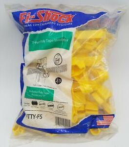 Fi-Shock ITTY-FS Yellow T-Post Electric Fence Polytape Insulators 309-616FS