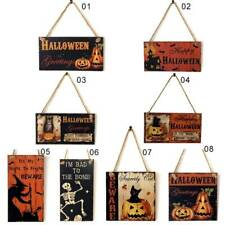 Halloween Guide Sign Wooden Listing Ghost Carnival Haunted Hous Hanging Boards