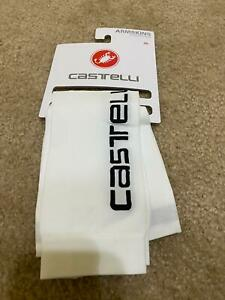 NEW Castelli UPF +67F ARM SLEEVES Light UV Arm Warmers WHITE