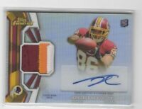 2013 Finest Jordan Reed Rookie Auto Refractor Jersey Patch 3 Color Redskins