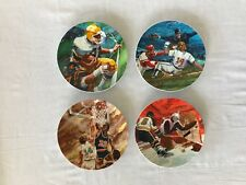Avon Moments Of Victory Sports Collectors Plates Set of 4 Vintage Ray Cara 7""