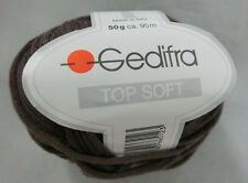 (126 €/kg): 600 g Top Soft, Bändchengarn mit Seide, Gedifra, Fb. 6512 braun#1964