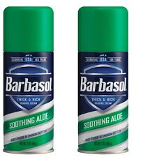 New 2 Pack Barbasol Soothing Aloe Thick & Rich Shave Cream 7 Oz.
