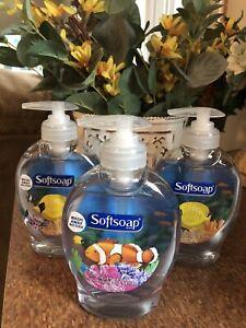 3 SOFTSOAP PUMP LIQUID  HAND SOAP AQUARIUM BOTTLES 7.5 OZ.