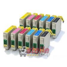 KIT 12 CARTUCCE COMPATIBILI CON CHIP PER EPSON STYLUS PHOTO R265 R285 R360