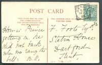 """GREAT BRITAIN SQUARED CIRCLE CANCEL """"BEXLEY"""" ON POSTCARD"""