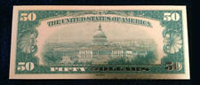"2XMINT☆OLD STYLE ""GOLD""$50.00 GOLD CERTIFICATE Fifty DOLLAR Rep.*Bank☆note☆"