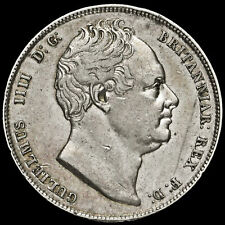 1835 William IV Milled Silver Half Crown, Rare