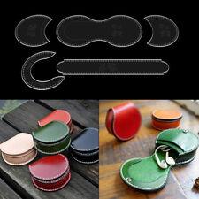 Purse Leather Craft Acrylic Wallet Bag Pattern Stencil Template Tool DIY Se3 Mf