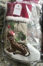 NWT Pottery Barn Kids WOODLAND girl deer FAWN Christmas stocking NO MONO