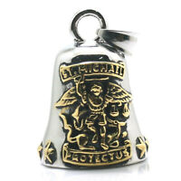 Archangel St. Michael Catholic Saint Patron Silver Gold Color Metal Bell Pendant