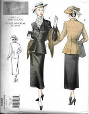 Sewing Pattern Vogue Vintage Model 2339 Design Original 1948 Jacket & Skirt