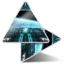2 x Triangle Stickers 10 cm - Alien Spaceship UFO Earth Sci-Fi  #8775