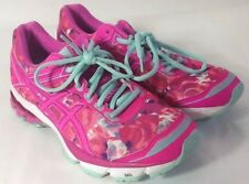 Asics GT-1000 Athletic Running Shoes Women's Sz 8.5 Pink/White Breast Cancer