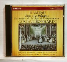 GUSTAV LEONHARDT - RAMEAU suite les paladins PHILIPS CD no IFPI full silver NM