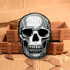 Skull Embroidered Sew On Iron On Patch Badge Bags Shirt Fabric Applique Craft
