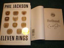 Phil Jackson Bulls Lakers Coach signed Book Eleven Rings 1st Print Bonus *Read
