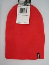NEW* HURLEY BEANIE Cap HAT MENS OSFA S M L Shipshape Red