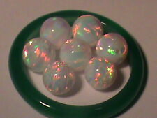 Amazing Fire Created Opal Beads Stunning 10 mm Beads Glowing White & Multi Color