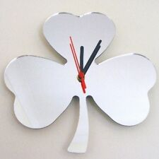 Clover Clock - Acrylic Mirror (Several Sizes Available)