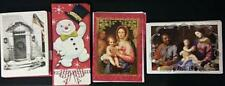 47 Glitter Accented Christmas Cards Paper Magic Group Snowman Nativity Snow Door