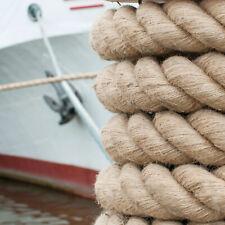 JUTESEIL 6mm - 60mm Tauwerk Hanfseil Naturhanf Jute Seil Bootsteile Gedreht Rope