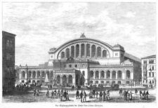 Berlin, Anhalter Bahnhof, Empfangsgebäude,  Original-Holzstich von 1880