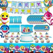 Shark Party Supplies for Baby, 82 pcs Birthday Decorations, Shark Theme Birthday