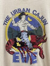 Vtg 1981 Urban Cajun Cowboy T-Shirt Men's Sz L Screen Stars 80's Orange Tag Rare