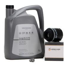 ORIGINAL VW Motoröl Öl 0W30 LONGLIFE III FE 5 L + HIRSCHER Ölfilter 03C115561H