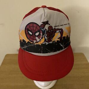 Vintage Spiderman 1985 Youth Snap Back Trucker Hat RARE VHTF