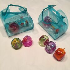 7 Xia Xia Toy Hermit Crab Snail Shell W/charms 4 Hermits 3 Snails Purple Pink Gr