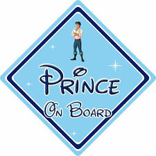 Disney Prince On Board Car Sign - Baby On Board - Little Mermaid Prince Eric