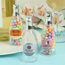 150 Personalized Champagne Bottle Plastic Box Wedding Favor - Free US Shipping
