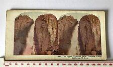 #185 UPPER YOSEMITE VALLET FALLS CALIFORNIA U.S.A. Antique COLOUR Stereoview
