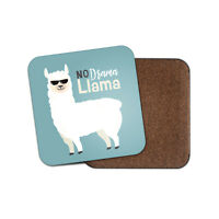 No Drama Llama Coaster - Funny Student Kids Girls Boys Animal Cool Gift #19067