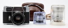 KODAK RETINA REFLEX III 35mm FILM CAMERA WITH 50mm F/1.9 35mm F/2.8 135mm LENSES
