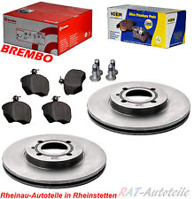 Bremsscheiben Brembo KIT Vorn 256mm-VA-VW CADDY 2 GOLF 1 2 3 4 LUPO PASSAT Vento