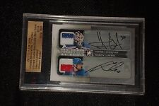 HENRIK LUNDQVIST & MARIAN GABORIK 2011 IN THE GAME GAME USED JERSEY AUTOGRAPH